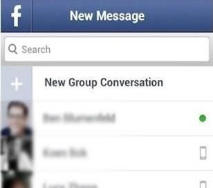 berichten zoeken op facebook messenger voor android