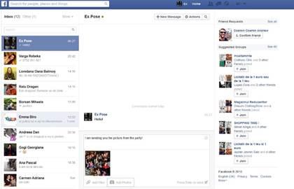 Hoe te verzenden berichten, foto's en video's op Facebook.com