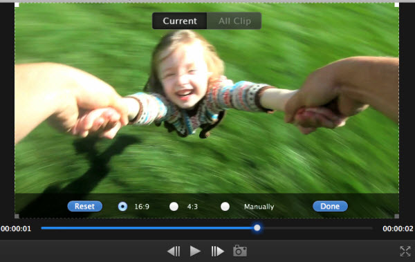 Mac video editor crop photos