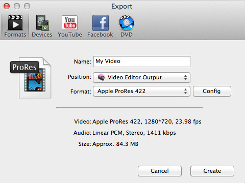 vivideo output