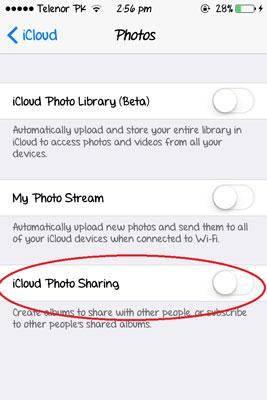 icloud foto sharing