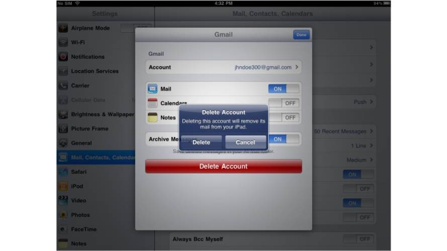 Safe And Simple Method To Delete iPad Account