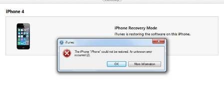 iphone cannot be restored