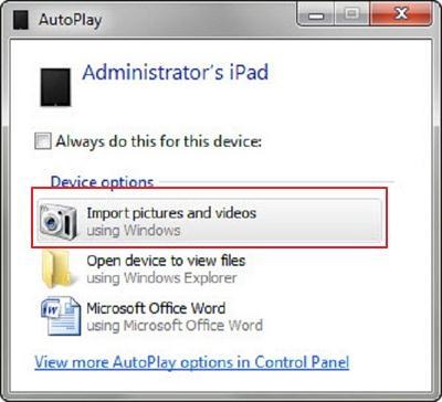 backup ipad photos to pc