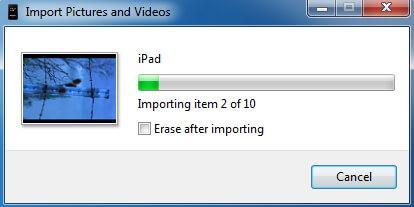ipad photo backup