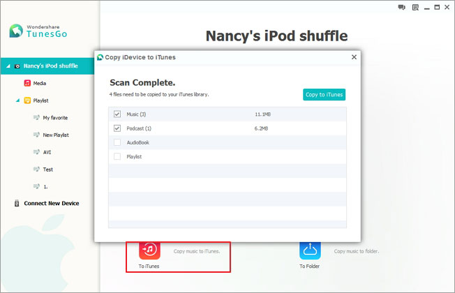 transfer songs from ipod shuffle to itunes