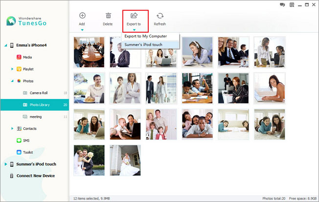 manage iphone photos on pc