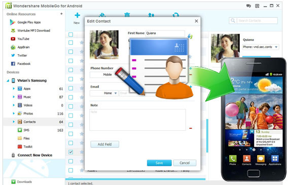 MobileGo main interface
