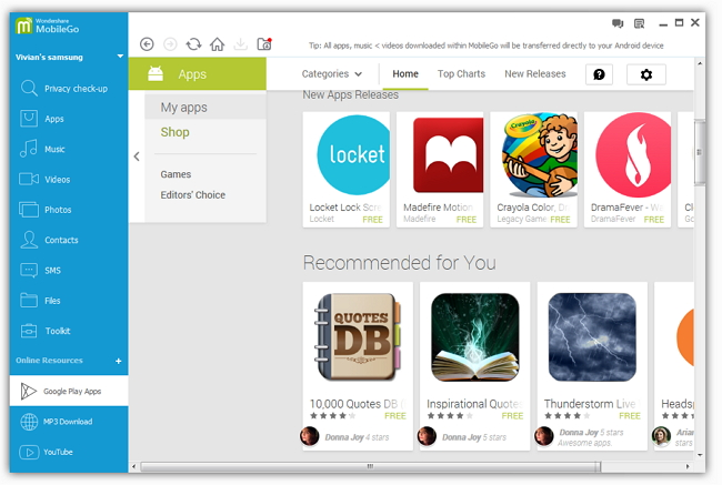 copy apps to android 4.4, kitkat