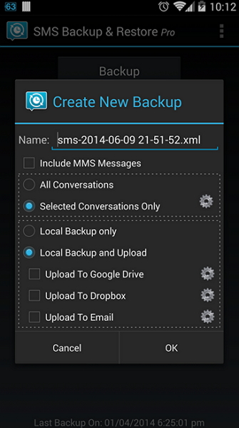 how to backup sms from samsung