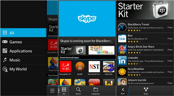 android apps for blackberry z10