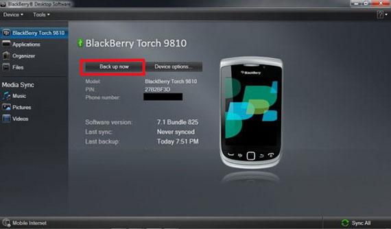 BlackBerry apparaat naar een andere BlackBerry
