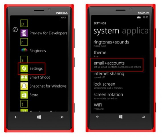 android naar windows telefoon