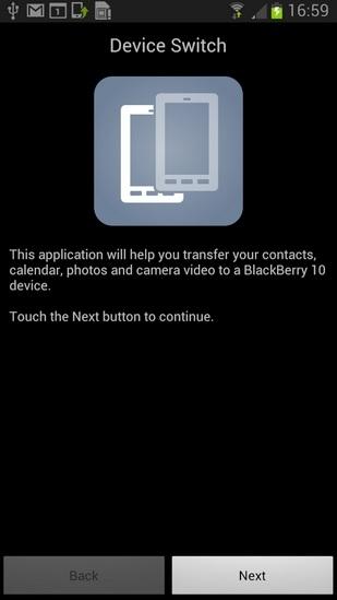 transfer sony data to blackberry