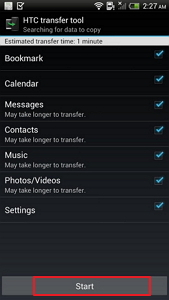 transfer contacts from htc to android