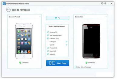 Hoe draag je gegevens over van een iOS toestel naar een Acer Gsm