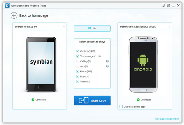 nokia symbian to android contacts