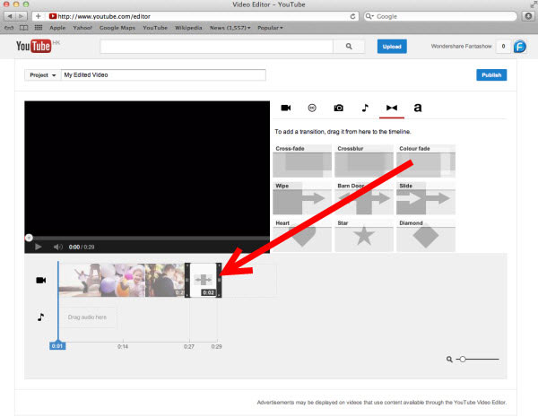 how to use youtube video editor
