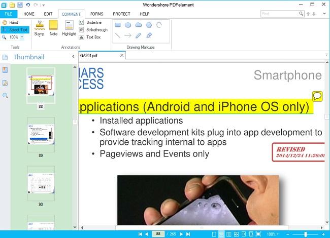 Annotate pdf files
