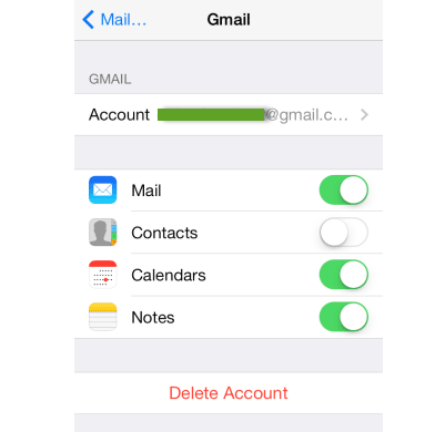 how to backup iPhone notes to Gmail