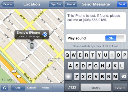 find lost iphone data