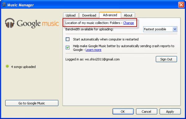 upload rdio to google music