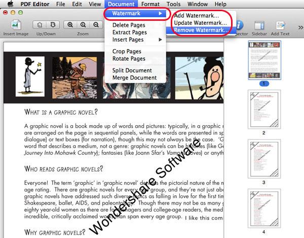 remove pdf watermerk