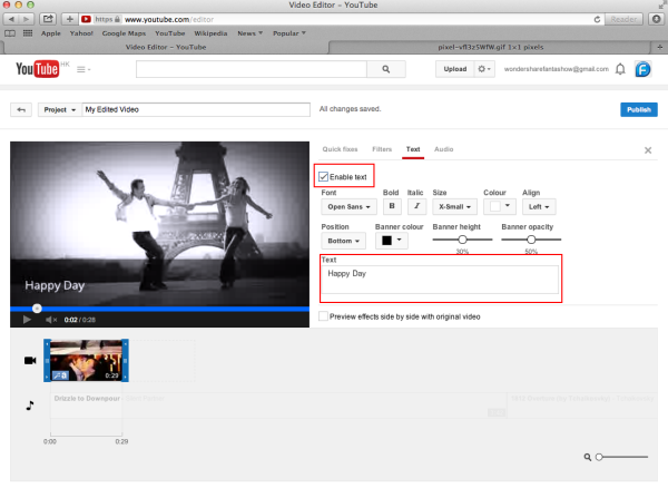 how to add youtube video motocms html